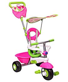 Smartrike Fresh Tricycle 3 In 1 With Push Handle - Pink N Green
