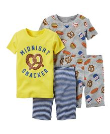 Carter's 4-Piece Snug Fit Cotton PJs - Multicolor