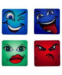 The Crazy Me I Got My Eyes On You Coaster Set - Multicolour