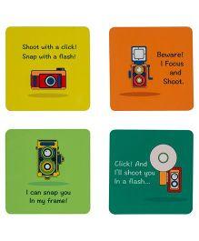 The Crazy Selfie Time Coasters Set - Multicolour