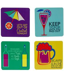 The Crazy Me Drink Triple See Double Coaster Set - Multicolour