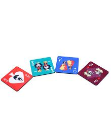 The Crazy Me Cards Set Of Coasters - Multicolour
