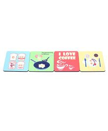 The Crazy Me Breakfast Coasters Set - Multicolour
