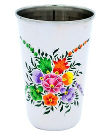 The Crazy Me Hand Painted Colorful Pattern Tumbler - White