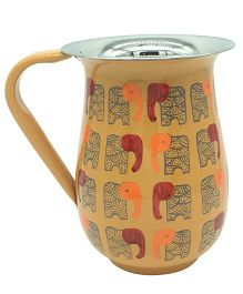 The Crazy Me Hand Painted Elephant Pattern Jug - Yellow
