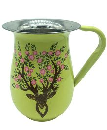 The Crazy Me Hand Painted Deer Jug - Light Yellow