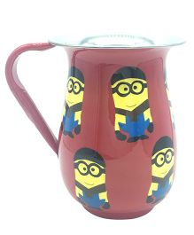 The Crazy Me Hand Painted Cartoon Pattern Jug - Dark Pink