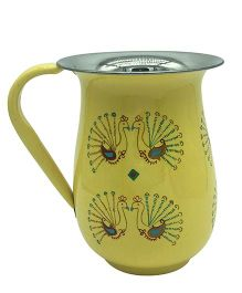 The Crazy Me Hand Painted Peacok Jug - Yellow