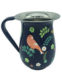 The Crazy Me Hand Painted Bird Pattern Jug - Black