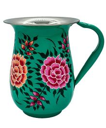 The Crazy Me Hand Painted Flower Jug - Sea Green
