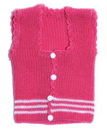 Soft Tots Attractive Front Open Vest - Pink