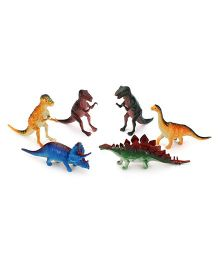 Playmate Dinosaur Set Multicolor - 6 Pieces