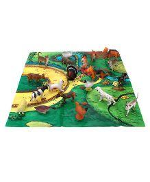 Playmate Farm Animal Set With PlayMat - 20 Animal Figures