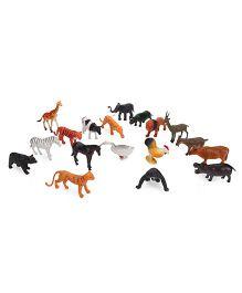 Playmate Wild Farm Animal Set Multicolor - 17 Pieces