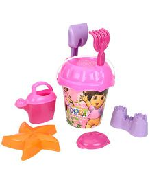 Dora Beach Bucket With Accessories - Pink Purple