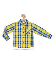 612 League Full Checks Shirt With T-Shirt - Yellow And Blue
