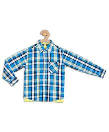 612 League Full Checks Shirt With T-Shirt - Blue And White