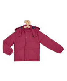 612 League Full Sleeves Hooded Winter Jacket - Red