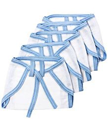 Tinycare Cloth Baby Nappy Small White And Blue - Set Of 5