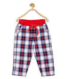 612 League Check Leggings With Pockets - Red