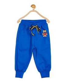 612 League Solid Color Joggers With Patch - Royal Blue