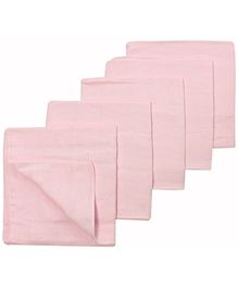 Tinycare Square Cloth Baby Nappy Pink Large - Set Of 5