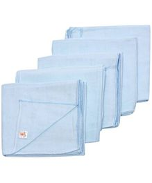 Tinycare Square Cloth Baby Nappy Light Blue Extra Large - Set Of 5