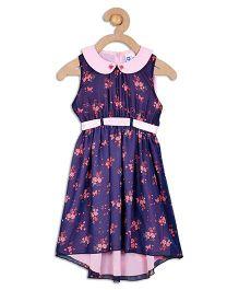 612 League Sleeveless Printed Party Wear Dress - Purple