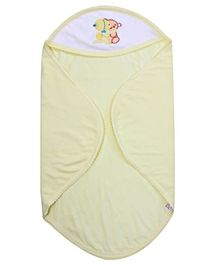 Tinycare Hooded Towel Super Baby Print - Yellow