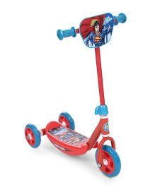 DC Comics Superman Man of Steel Three Wheel Scooter - Blue & Red