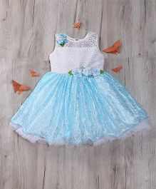 M'Princess Flared Party Dress - Blue