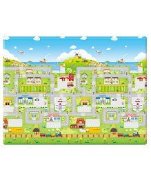BeBe Dom Play Mat Run To Town Design Multi Color - Small