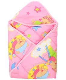 Tinycare Hooded Baby Wrapper - Pink