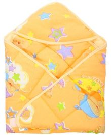Tinycare Hooded Baby Wrapper - Orange