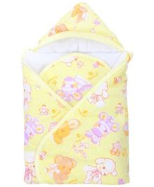 Tinycare Hooded Baby Wrapper - Yellow