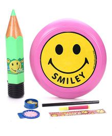 Funworld Stationery Kit With Frisbee Pack Of 7 - Green & Pink