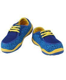 Myau Lace Tie Up Shoes - Blue