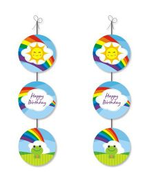 Prettyurparty Rainbow Theme Danglers - Multicolor