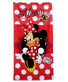 Disney Minnie Mouse Printed Bath Towel - Red