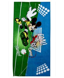 Disney Mickey Mouse Printed Bath Towel - Green & Blue