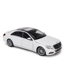 Welly Die Cast Mercedez Benz S Class Car - White