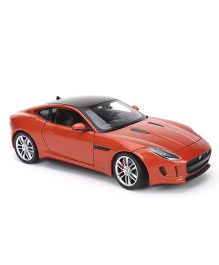 Welly Die Cast 2015 Jaguar F Type Coupe Car - Dark Orange