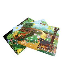 Sunny Jigsaw Big Animals 3 in1 Puzzle - 120 Pieces