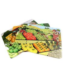 Sunny Jigsaw Big Fruits And Veg 3 in1 Puzzle - 120 Pieces