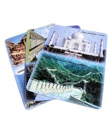 Sunny Jigsaw Big 7 Wonders 3 in1 Puzzle - 120 Pieces