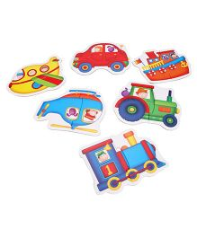 Galt Baby Puzzle Transport Theme - Multi Color