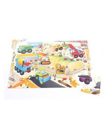 Galt Giant Floor Puzzle Construction Site Theme - Multi Color