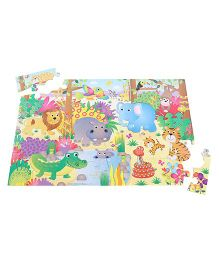 Giant Floor Puzzle Jungle Theme - Multicolor