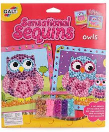 Galt Sensational Sequins Owls Theme - Multi Color