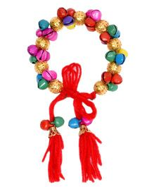 Miss Diva Colourful Bracelet With Ghungroo - Multicolour